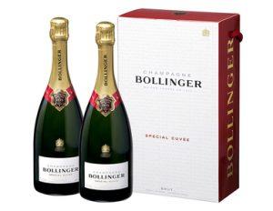 Champagne Bollinger, Spéciale cuvée, coffret cadeau de 2 bouteilles de 75 cl