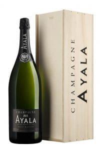 Champagne Ayala Brut Majeur Jéroboam en coffret bois 300 cl