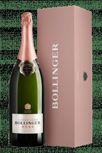 Champagne Bollinger Rosé Brut Jéroboam en coffret bois, 300 cl